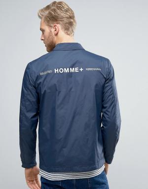 Selected Homme Легкая спортивная куртка. Цвет: синий