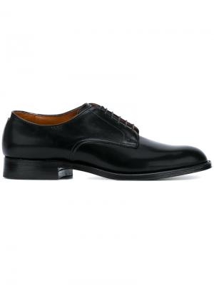 Classic Derby shoes Alden. Цвет: чёрный