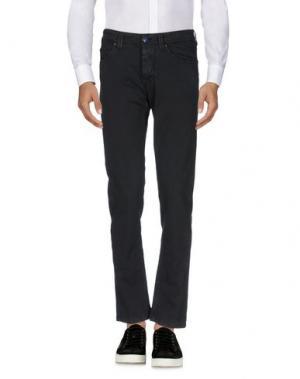 Повседневные брюки BARBA Napoli. Цвет: черный
