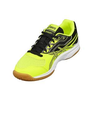 Кроссовки UPCOURT 2 GS ASICS. Цвет: желтый, серый, черный