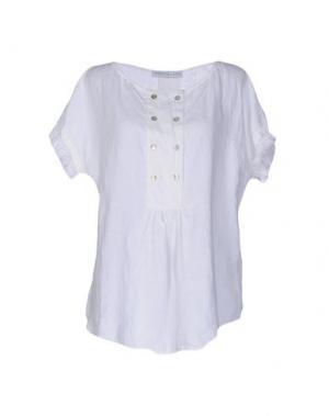 Pубашка LA FABBRICA del LINO. Цвет: белый