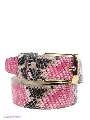 Ремень Vittorio Richi. Цвет: бежевый, розовый, зеленый