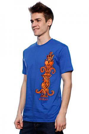 Футболка  Pastras Totem Royal Blue Dekline. Цвет: синий