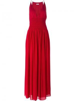 Вечернее платье со сборками Issa. Цвет: красный