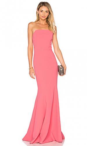 Вечернее платье без бретелек JILL STUART. Цвет: розовый