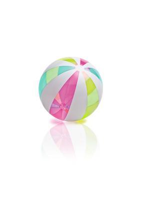 Надувной мяч гигант пляжный 107см Intex. Цвет: прозрачный