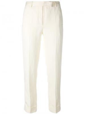 Укороченные брюки с подвернутыми манжетами Philosophy Di Lorenzo Serafini. Цвет: телесный