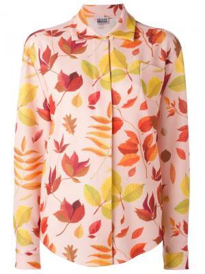Leaf print shirt Arthur Arbesser. Цвет: розовый и фиолетовый