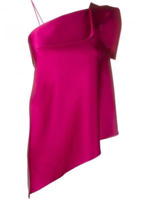 Асимметричный топ Iver Roland Mouret. Цвет: розовый и фиолетовый