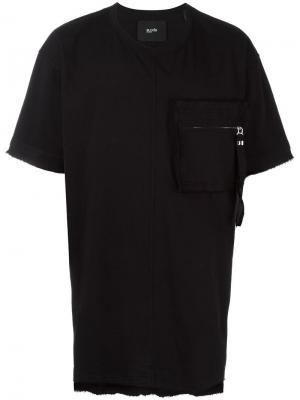 Футболка с нагрудным карманом на молнии Blood Brother. Цвет: чёрный
