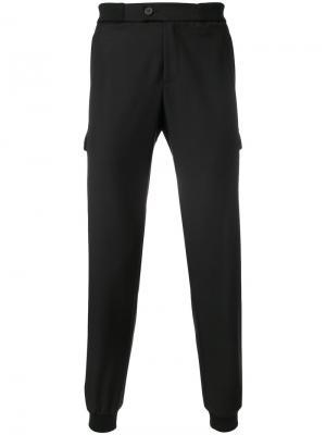 Спортивные брюки с отделкой молниями Les Hommes Urban. Цвет: чёрный