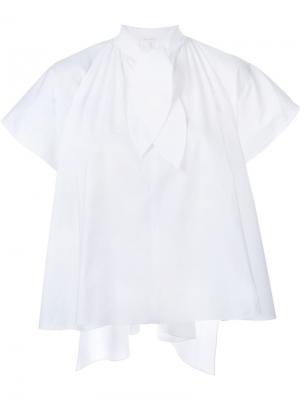 Блузка с бантом Delpozo. Цвет: белый