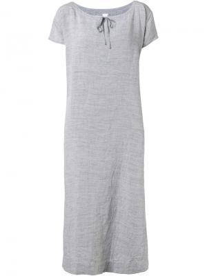 Длинное платье с короткими рукавами Dosa. Цвет: серый