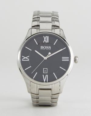 BOSS Серебристые наручные часы By Hugo 1513488 Governor. Цвет: серебряный