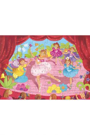 Пазл Балерина с цветами Djeco. Цвет: розовый