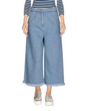 Джинсовые брюки-капри ONEDRESS ONELOVE. Цвет: синий