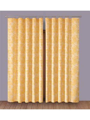 Комплект штор P Primavera Firany. Цвет: желтый