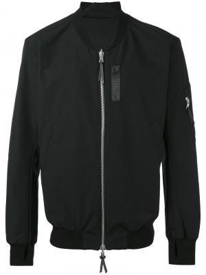 Куртка-бомбер 11 By Boris Bidjan Saberi. Цвет: чёрный
