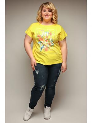 Блузка Jetty-plus. Цвет: желтый