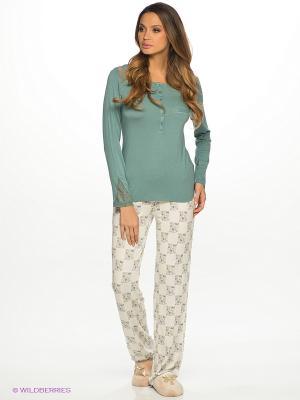 Комплект одежды HAYS. Цвет: серо-зеленый, молочный