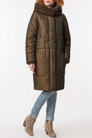 Пальто D`imma. Цвет: хаки