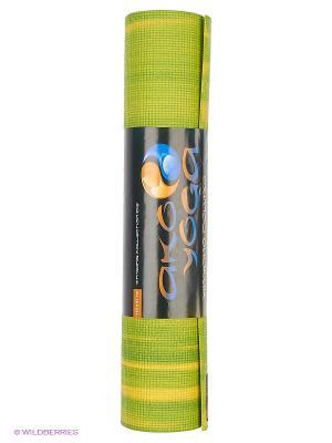 Коврик для йоги Ганг 183х60х6мм (1,6 кг, 185 см, 6 мм, зеленый, 60см) Ako-Yoga. Цвет: зеленый