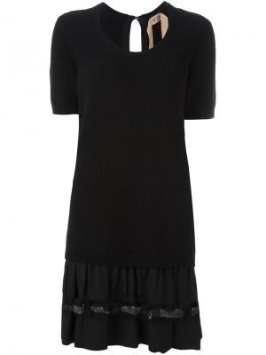Вязаное платье Nº21. Цвет: чёрный