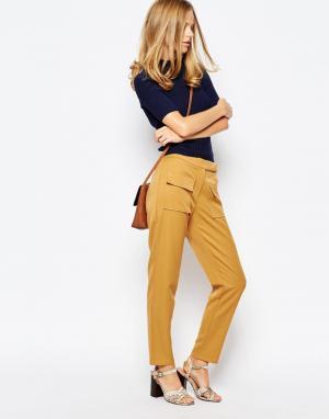 The Laden Showroom Укороченные брюки с завышенной талией X Even Vintag. Цвет: желтый