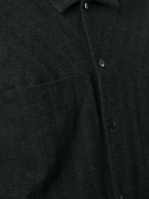 Рубашка с необработанными краями Ma+. Цвет: чёрный
