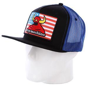 Бейсболка  American Monster Mesh Blue Toy Machine. Цвет: черный,голубой