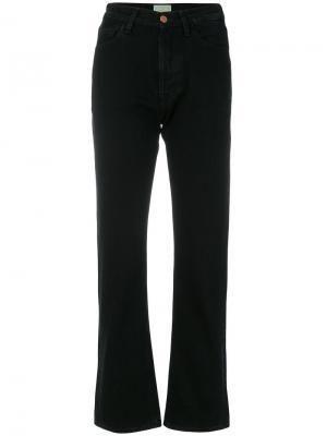 Слегка расклешенные джинсы Aries. Цвет: чёрный