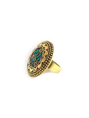Кольцо 3 сердца MZ0091 Indira. Цвет: золотистый