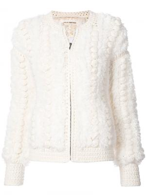 Куртка на молнии Ulla Johnson. Цвет: белый