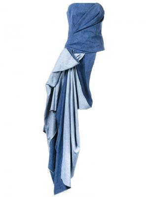 Джинсовый топ A.F.Vandevorst. Цвет: синий