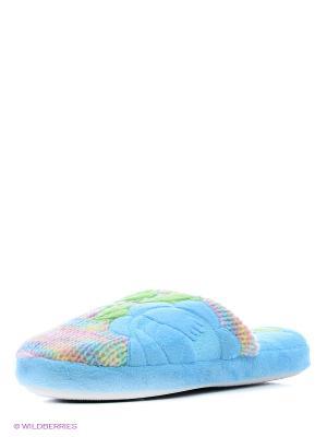 Тапочки LAMALIBOO. Цвет: голубой