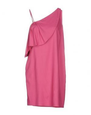 Короткое платье WALTER VOULAZ. Цвет: фуксия