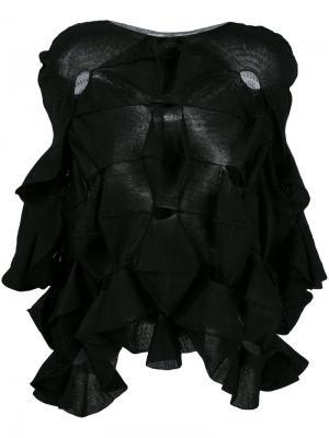 Толстовка с оборками Junya Watanabe Comme Des Garçons. Цвет: чёрный