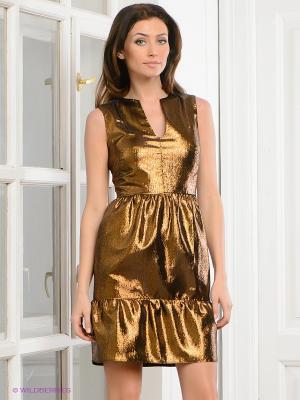 Платье Festival. Цвет: бронзовый