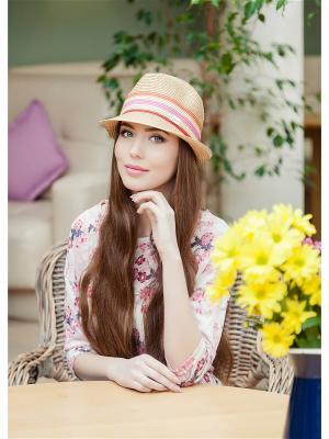 Шляпа AVANTA. Цвет: бежевый, красный, оранжевый