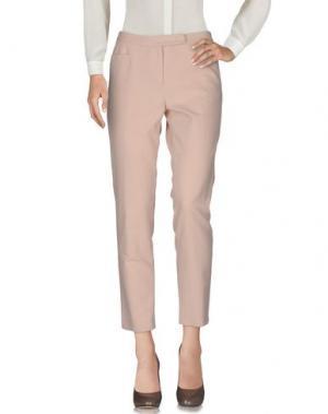 Повседневные брюки ODEEH. Цвет: светло-розовый