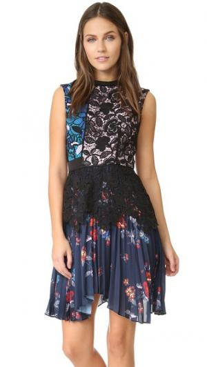 Плиссированное платье Nina Self Portrait. Цвет: мульти