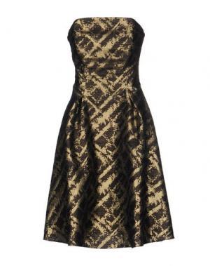 Короткое платье MUSANI COUTURE. Цвет: черный