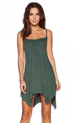 Платье-туника lang Michael Lauren. Цвет: зеленый