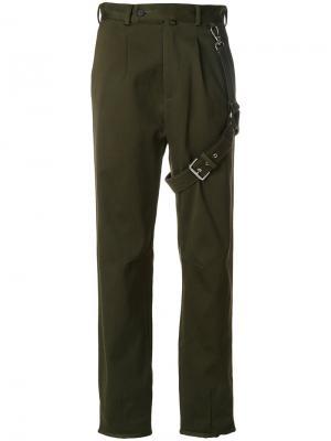Прямые брюки Alyx. Цвет: зелёный