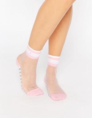 Stance Сетчатые носки с контрастными розовыми вставками x Rihanna. Цвет: естественный