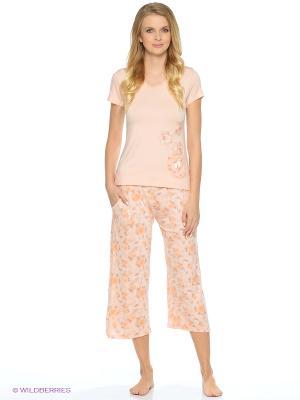 Пижама NICOLETTA. Цвет: оранжевый
