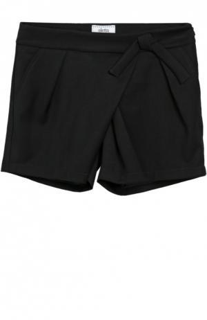 Ассиметричные шорты с декором Aletta. Цвет: синий