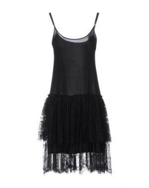 Платье до колена EDWARD ACHOUR. Цвет: черный
