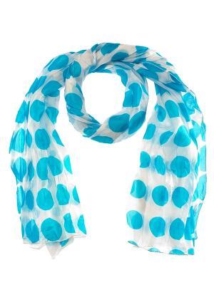 Палантин Passigatti. Цвет: голубой, белый