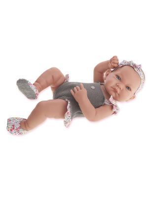 Кукла-младенец Ника, 42 см. Antonio Juan. Цвет: светло-серый